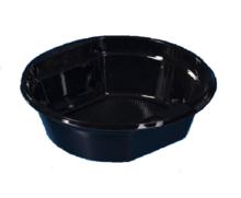 Тарелка ПВЦ кръгла дълбока черна