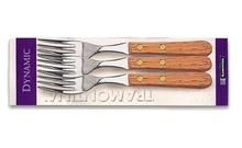 Вилица с дървена дръжка х3