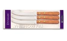 Нож с дървена дръжка х3