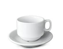 Чаша с чинийка порцелан 220мл