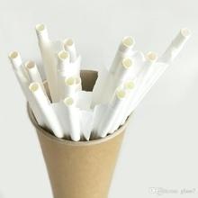 Сламки хартиени бели единично опаковани