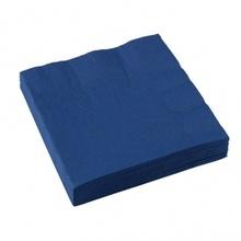 Салфетки 33х33 1/4 с борд т.сини 2пл