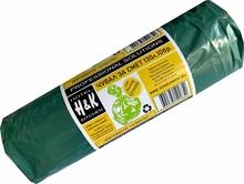 Чували за смет 80х100см 130л LDPE зелен